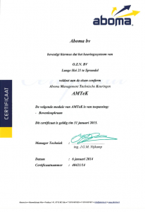 aboma-certificaat
